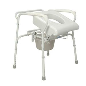 Carex Commode Seat Riser - Toilet Lift Commode Chair For Seniors, Elderly, Handicap - Auto Lifting Toilet Chair, White