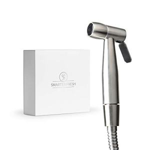 SmarterFresh Bidet Sprayer – Superior Splatter-Proof Stainless Steel Diaper Sprayer Cleans The Messiest Cloth Diapers – Complete Diaper Washer Hand Held Bidet Sprayer for Toilet