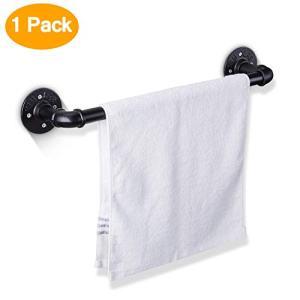 Elibbren 18 Inch Industrial Pipe Towel Bar, Bathroom Hardware Towel Bar Accessory, DIY Wall Mount Bath Towel Rack Holder, 1 Pack