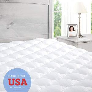 ExceptionalSheets Pillowtop Mattress Topper with Fitted Skirt - Extra Plush Pad Found in Marriott Hotels - Made in The USA, King Size