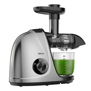 Juicer Machines, Jocuu Slow Masticating Juicer Extractor, Cold Press Juicer Easy to Clean, Quiet Motor, Reverse Function, with Brush and Recipes, for Fruits and Vegtables