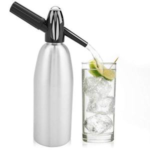 1 Liter Soda Maker Aluminum Soda Siphon Bottle Sparkling Water Maker Seltzer Water Maker for Cocktails,Wine Spritzers and Gin Fizz
