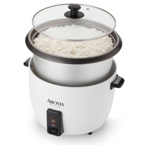 Aroma Housewares 32-Cup (Cooked) (16-Cup UNCOOKED) Pot Style Rice Cooker Guarantee: 1 12 months restricted guarantee on elements and labor