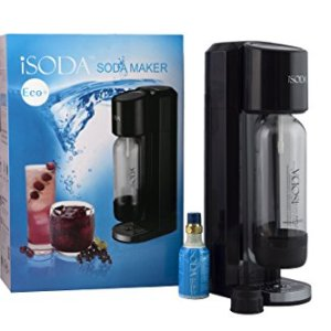 iSoda 31-03 Eco Plus Carbonated Soda Maker, Black
