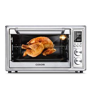 COSORI 12-in-1 Air Fryer Toaster Oven Convection Roaster with Rotisserie & Dehydrator, 100 Original Recipe, 30L, Silver