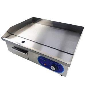 """TAIMIKO Commercial Electric Griddle Flat Top Grill HotPlate Kitchen Grill CounterTop Stainless Steel Thermostatic Control 1500W 22"""""""