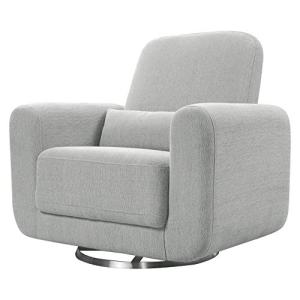 Babyletto Tuba Extra Wide Swivel Glider in Winter Grey Weave, Greenguard Gold Certified