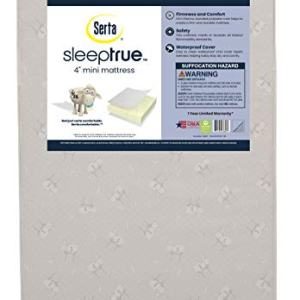 "Serta Sleeptrue 4"" Mini Crib Mattress"
