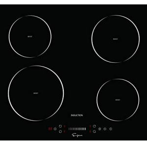 """Empava 24"""" Electric Induction Cooktop with 4 Booster Burners Smooth Surface Black Tempered Glass EMPV-IDC24"""