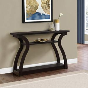 """Monarch Specialties 47"""" Console Table - Sleek and Modern Accent Table for Your Home (Cappuccino/Dark Brown) (I 2445)"""