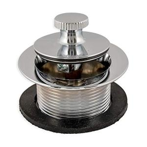 Eastman 35233 Lift-n-Turn Bathtub Drain Assembly 1-1/2-inch Strainer and Stopper, Chrome Finish