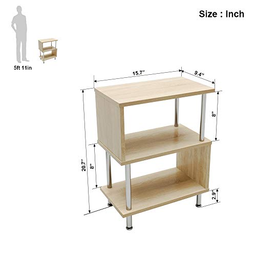 Bestier Side Table 3 Tier S-Shaped, Small Nightstand Bedside Table End Table Guarantee: 12 month guarantee gurantee.