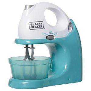 BLACK+DECKER Junior Hand Mixer Role Play Pretend Kitchen Appliance for Kids with Realistic Action, Light and Sound - Plus Mixing Bowl and Two Mixing Modes for Imaginary Cooking Fun