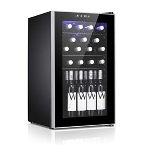24 Bottle Wine Cooler - Quiet Operation Compressor Wine Cellar Freestanding Counter Top Wine Chiller- Cabinet Refrigerator and Touch Panel Digital Temperature Display