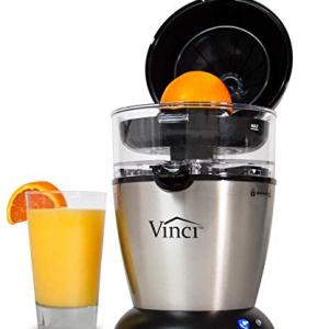 Vinci Hands-Free Electric Citrus Juicer | 1-Button Easy Press Lemon Lime Orange Grapefuit Juice Squeezer Easy to Clean Juicer Machine, Stainless Steel