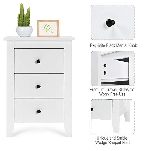 Giantex Nightstand W/ 3 Drawers Large Storage Space, Solid Structure Package deal Dimensions: 18.zero x 14.5 x 26.zero inches