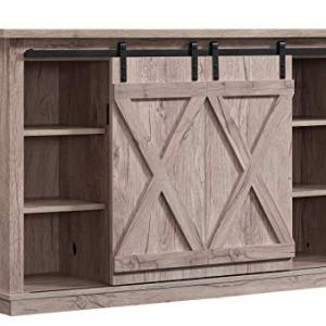 Pamari Wrangler Sliding Barn Door TV Stand, Ashland Pine