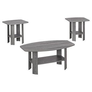 Monarch 3 Piece Table Set, Grey