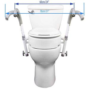 MOBB New Ultimate Safety Frame Strongest Toilet Safety and Your Choice of Toilet Seat Rise (Ultimate Toilet Frame Only)