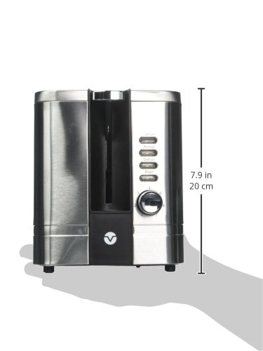 Vremi Toaster 2 Slice Stainless Steel - Retro Toaster for Bagels Package deal Dimensions: 10.6 x 6.1 x 7.5 inches