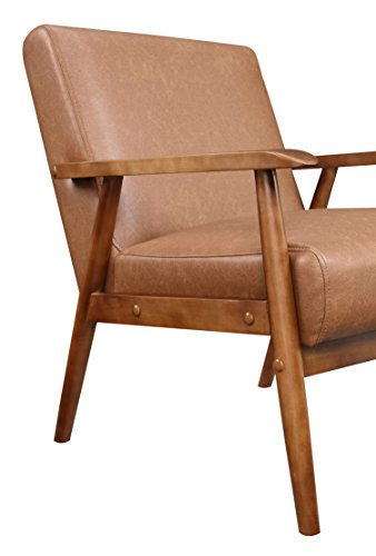 Pulaski Wood Frame Faux Leather Accent Chair Guarantee: 1 12 months guarantee towards producer defects.
