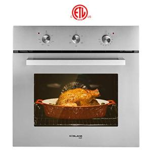 "Electric Single Wall Oven, GASLAND Chef ES606MS 24"" Built-in Electric Ovens, 240V 2000W 2.3Cu.f 6 Cooking Functions Wall Oven, Mechanical Knobs Control, Stainless Steel Finish"