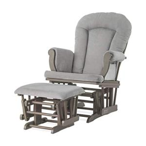 Forever Eclectic by Child Craft Cozy Glider and Ottoman Set (Dapper Gray)