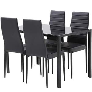 FDW Dining Table Set Dining Table Dining Room Table Set for Small Spaces Kitchen Table and Chairs for 4 Table with Chairs Home Furniture Rectangular Modern