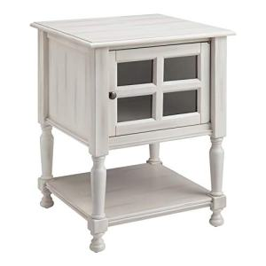 Ball & Cast End Table, White