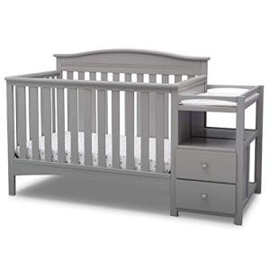 Delta Children Birkley Convertible Crib and Changer, Grey