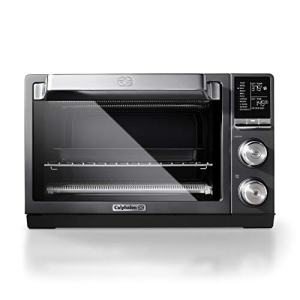 Calphalon Quartz Heat Countertop Toaster Oven, Stainless Steel, Extra-Large Capacity, Black, Dark Gray