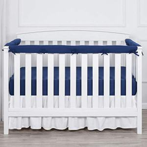 TILLYOU 3-Piece Padded Baby Crib Rail Cover Protector Set
