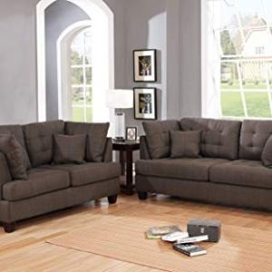 Infini Furnishings 2-Pcs Set Sofas, Coffee