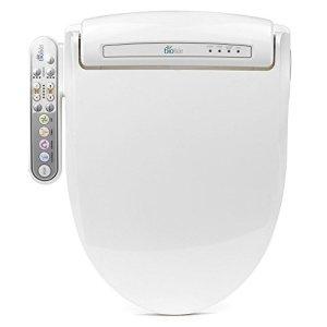 BioBidet Prestige BB-800 Elongated White Bidet Toilet Seat, Adjustable Warm Water, Self Cleaning, Side Panel, Posterior Feminine and Vortex Wash, Electric Bidet, 3 in 1 Nozzle, Power Save Mode