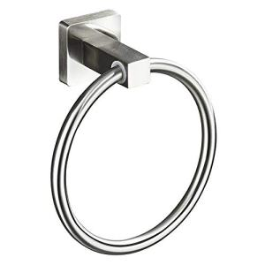 ENJYHZQY Hand Towel Ring Stainless Steel,Bathroom Towel Ring (Brushed Nickel)