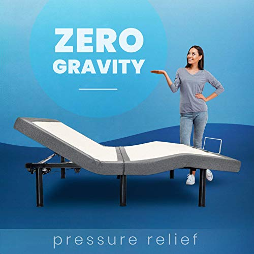 BEDBOSS Queen Relax 404 Adjustable Full Motion Zero Gravity Motorized Bed Base BEDBOSS Queen Relax 404 Adjustable Full Motion Zero Gravity Motorized Bed Base | Heavy Duty Frame | Head and Foot Motion | Wireless Remote | Mattress Retention Rail | for Bedroom | Multiple Sizes.