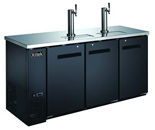 New Xiltek 72″ Kegerator/Beer Dispenser with (2) Double Tap