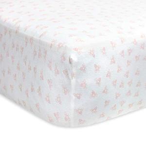 Burt's Bees Baby - Fitted Crib Sheet, Girls & Unisex 100% Organic Cotton Crib Sheet for Standard Crib and Toddler Mattresses (Blossom Pink Honeybee Print)