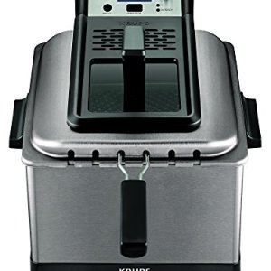 KRUPS KJ502D51 Deep Fryer, Electric Deep Fryer, Stainless Steel Triple Basket Fryer, 4.5 Liter, Silver