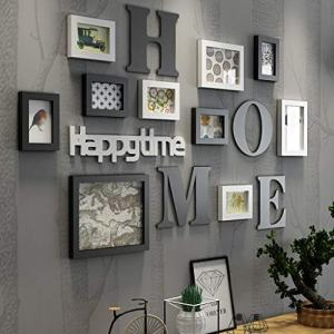 Photo Picture Frame Set Luxury Wall Decor Combination DIY Wall Art Large Home Decor Personality Photo Frame Wall Mounting for Family Living Room, Bedroom (Ship from US) (A, Multicolor)