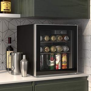 Cloud Mountain 60 Can or 18 Bottles Beverage Refrigerator or Wine Cooler with Glass Door for Beer, soda or Wine - Mini Fridge Used in the Room, Office or Bar - Drink Freezer for Party