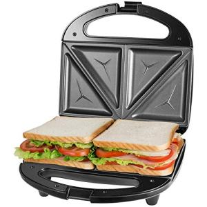 OSTBA Sandwich Maker, Toaster and Electric Panini Press with Non-stick plates, LED Indicator Lights, Cool Touch Handle, Black