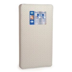 "Sealy Baby Posturepedic Waterproof Standard Toddler & Baby Crib Mattress - 220 PostureTech Sensory Coils, 51.63"" x 27.25"", Model:EM601-MFF1"