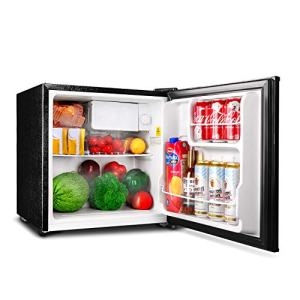 TACKLIFE Compact Refrigerator 1.6 Cu.Ft, Mini Fridge with Freezer 50L(Holds 40 cans), Single Reversible Door, Small Cooler Perfect for Soda Beer or Drink, MPBFR161