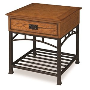 Modern Craftsman Distressed Oak End Table by Home Styles