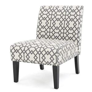 Christopher Knight Home Kassi Fabric Accent Chair, Grey Geometric Patterned