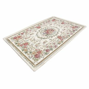 Ukeler Luxury Soft Rustic Floral Area Rugs Washable Elegant Shabby Rose Rug Non Slip Accent Floor Rugs Carpet for Bedroom (31.5''x47.2'', Country Rose)