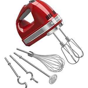 KitchenAid KHM926ER Empire Red 9-Speed Hand Mixer (Renewed)