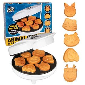 CucinaPro Animal Mini Waffle Maker- Makes 7 Fun, Different Shaped Pancakes - Electric Non-Stick Waffler, Fun for Father's Day Breakfast