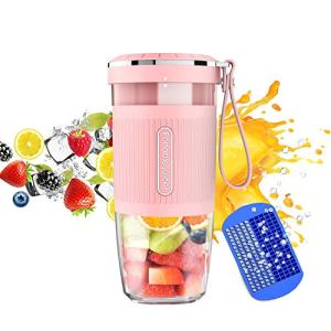 KLOUDI Portable Blender, Cordless Personal Blender Juicer, Mini Mixer, Waterproof Smoothie Blender With USB Rechargeable, BPA Free Tritan 300ml, Home, Office, Sports, Travel, Outdoors